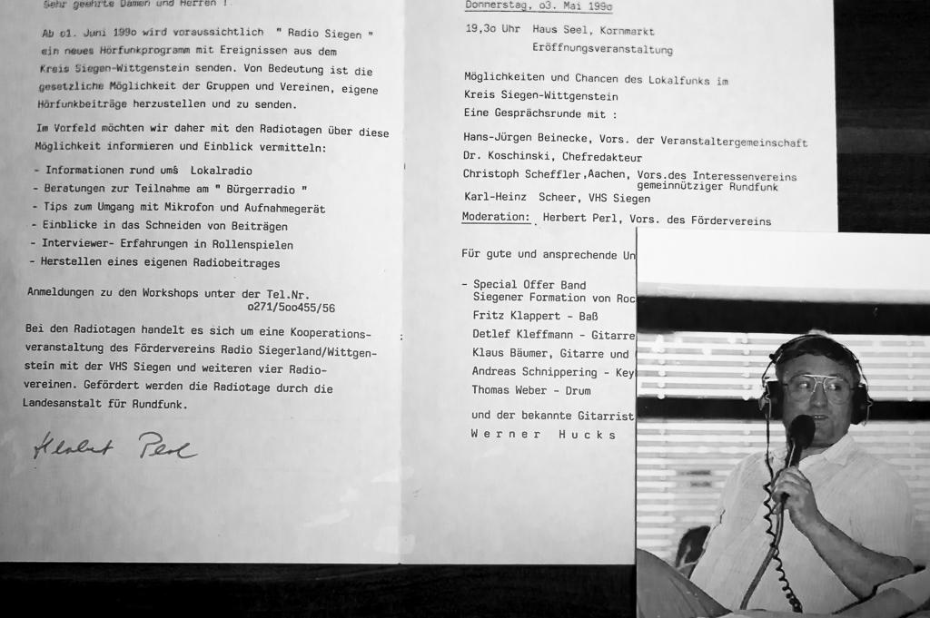 Zeitzeugnis aus dem Jahre 1990 - Einladung zur Eröffnungsveranstaltung